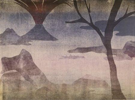 Monotipo Ikemura  - Paisajes con el monte Fuji 14