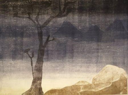 Monotipo Ikemura  - Paisajes con el monte Fuji 15