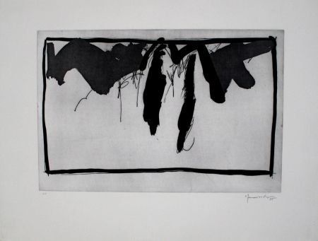 Aguafuerte Y Aguatinta Hernandez Pijuan - Paisatge amb xiprers II / Landscape with Cypresses II