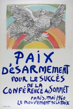 Litografía Picasso - Paix D'esarmement