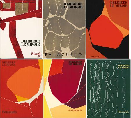 Libro Ilustrado Palazuelo - PALAZUELO. Collection complète des 6 volumes de la revue DERRIÈRE LE MIROIR consacrés à Palazuelo (parus de 1955 à 1978). 26 ESTAMPES ORIGINALES.