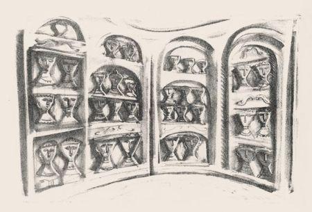 Litografía Campigli - Palchi Di Teatro