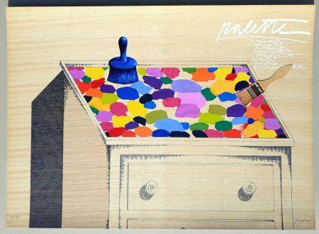 Serigrafía Pozzati - Palette