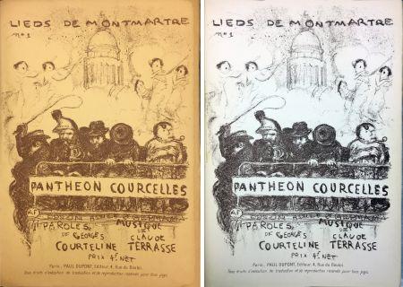 Litografía Bonnard - PANTHÉON - COURCELLES, avec une couverture de Pierre Bonnard (1899)