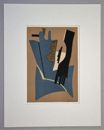 Litografía Magnelli - Papier collé - 1948