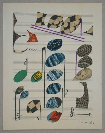 Litografía Magnelli - Papier collé, 1941