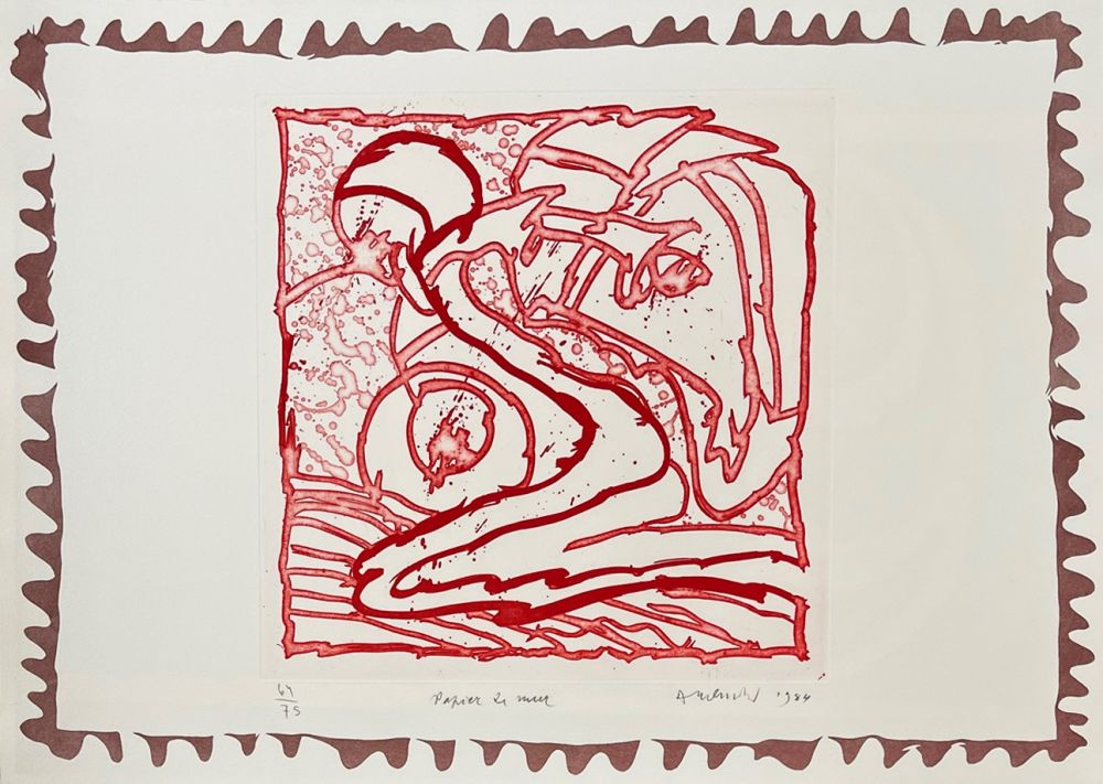 Grabado Alechinsky - Papier de mur