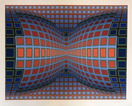 Serigrafía Vasarely - Papillon