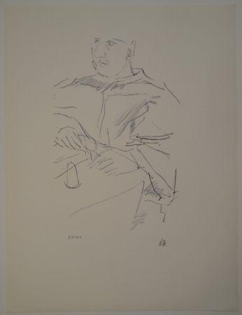 Litografía Kokoschka - Papst Leo X
