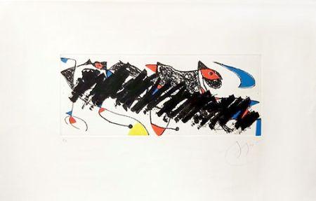 Grabado Miró - Par dessus la haie