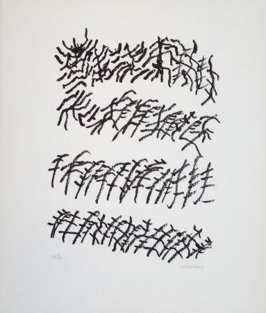 Litografía Michaux - Par la voie des rythmes