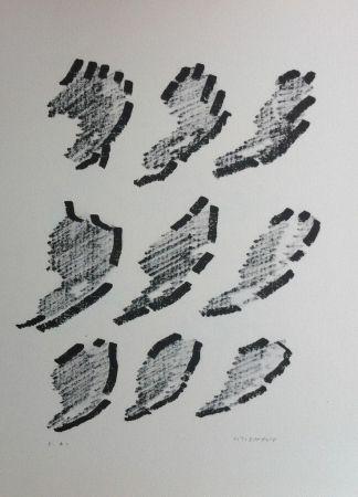 Litografía Michaux - Par la voie des rythmes 152