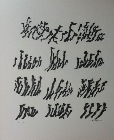 Litografía Michaux - Par la voie des rythmes 154
