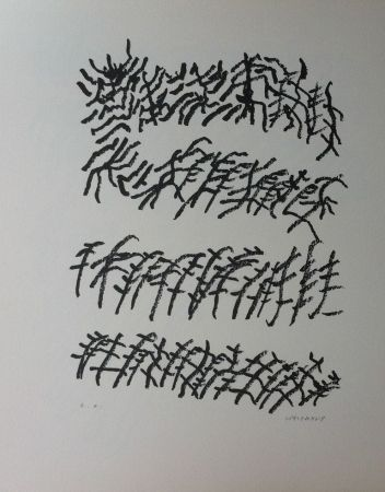 Litografía Michaux - Par la voie des rythmes 156