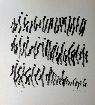 Litografía Michaux - Par la voie des rythmes 157