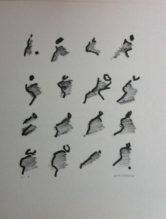 Litografía Michaux - Par la voie des rythmes 159