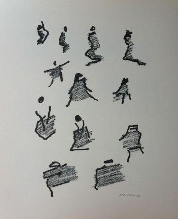 Litografía Michaux - Par la voie des rythmes 165