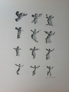 Litografía Michaux - Par la voie des rythmes 166