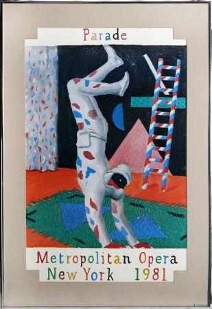 Serigrafía Hockney - Parade, Metropolitan Opera