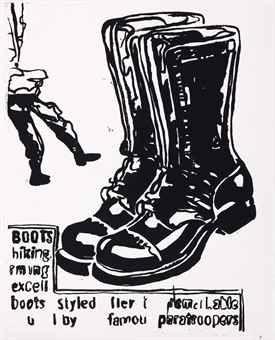 Serigrafía Warhol - Paratrooper Boots Positive