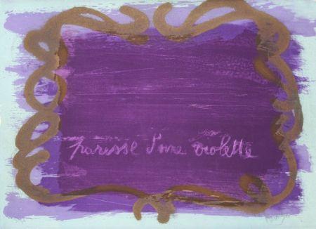 Litografía Messagier - Paresse d'une violette