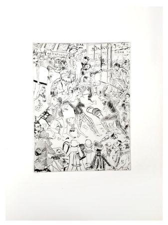 Litografía Foujita - Paris