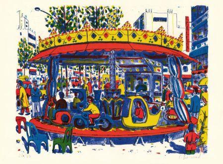 Litografía Boisrond - Paris-ci aussi, le manège