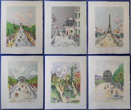 Litografía Utrillo - Paris Capitale (10 lithographies)