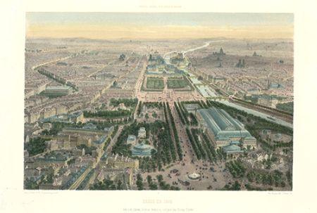 Litografía Benoist - Paris en 1860