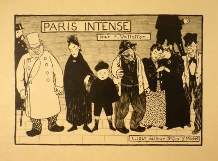 Litografía Vallotton - Paris intense (Frontispiz)