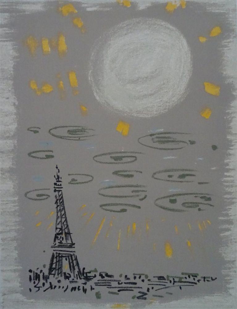 Litografía Masson - Paris: La Tour Eiffel