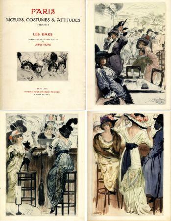 Libro Ilustrado Lobel-Riche - PARIS. MŒURS, COSTUMES ET ATTITUDES, 1912-1913. LES BARS (M. Guillemot).