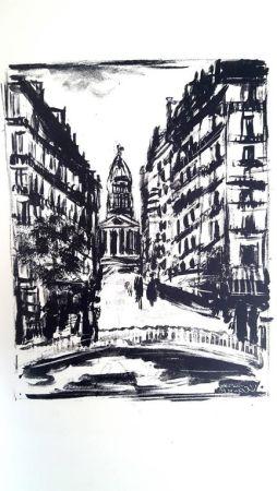 Litografía Vlaminck - Paris Rue Souflot