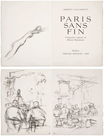 Libro Ilustrado Giacometti - PARIS SANS FIN. 150 lithographies originales (1969)