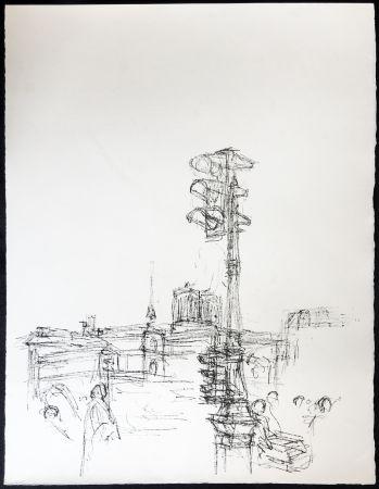 Litografía Giacometti - Paris Sans Fin. 75ème planche (1961). 1964. Tirage à part.