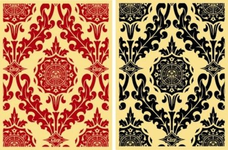 Serigrafía Fairey - Parlor Pattern Set (Cream and Red & Cream and Black)