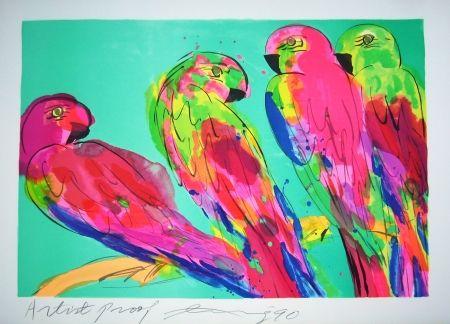 Litografía Ting - Parrots