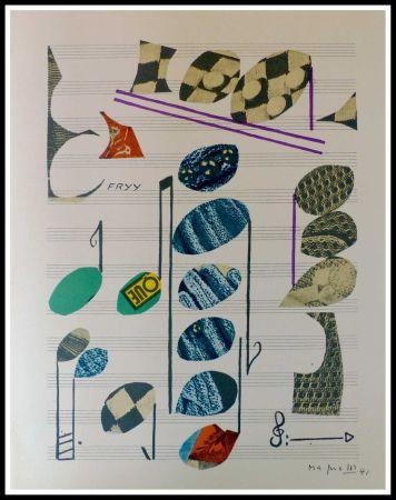 Litografía Magnelli - PARTITION MUSICALE