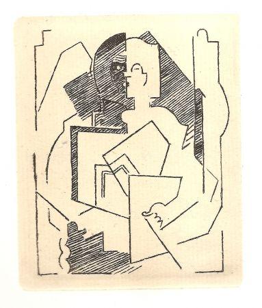 Grabado Gleizes - Pascal.  Pensées sur l'homme et Dieu (restrikes of 22 etchings)