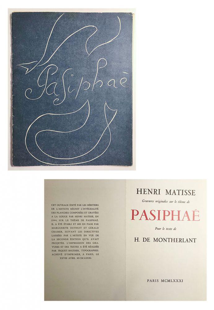 Libro Ilustrado Matisse - Pasiphae - Livret de présentation en reproduction