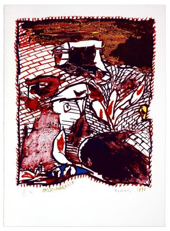 Litografía Alechinsky - Passe Muraille