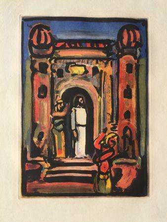 Aguafuerte Y Aguatinta Rouault - Passion Suite: Christ aux Portes de la Ville