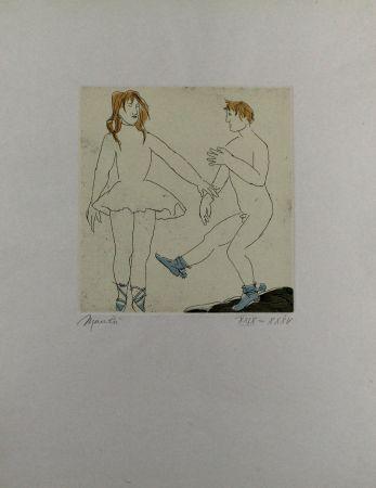 Aguafuerte Y Aguatinta Manzu - Passo di danza II