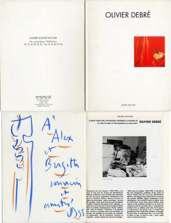 Sin Técnico Debré - Pastel original sur un catalogue d'exposition (1993)