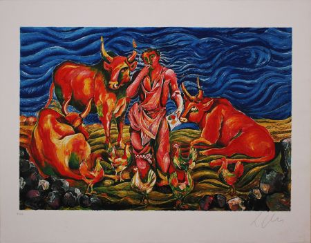 Litografía Chia -  Pastorale