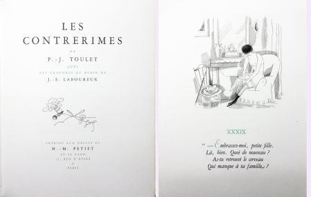 Libro Ilustrado Laboureur - Paul-Jean Toulet : LES CONTRERIMES. 63 gravures originales (1930)