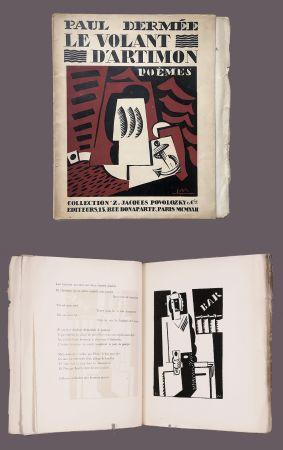 Libro Ilustrado Marcoussis - Paul Dermée : LE VOLANT D'ARTIMON. POÈMES. 1 des 10 Hollande avec envoi.
