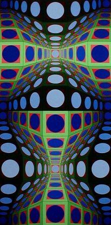 Serigrafía Vasarely - Pava