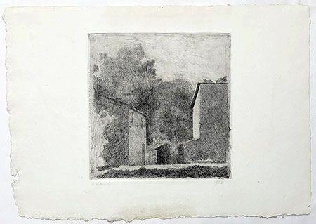 Grabado Morandi - Paysage
