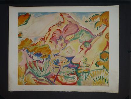 Litografía Friesz - Paysage à La Ciotat (la pointe du Capucin)
